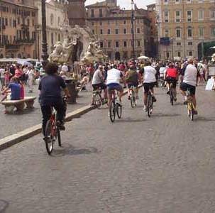 Holiday Rome Guided Tour Rome by bike Piazza Navona